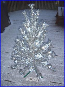 Sharp Htf Evergleam Vintage 4 Ft Silver Alunminum 55 Branchs Christmas Tree