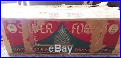 Silver Forest 6.5' Aluminum Christmas Tree Penetray Tree Turner 97 Branches VTG