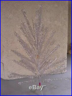 Silver aluminum Christmas tree Vintage 65 feet