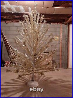 Silver and Gold Peco 6ft Aluminum Christmas Tree