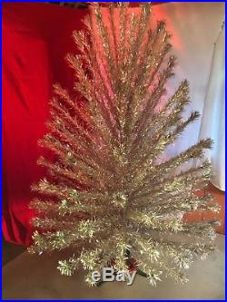 Spectacular Vintage Aluminum Silver Christmas Tree 7' Super Deluxe & Color Light