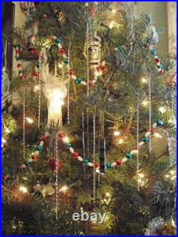 Sterling Silver Icicles 6 Christmas Tree Ornaments Hand Crafted Custom Made