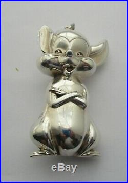 Sterling Silver Three Dimensional Mouse XMAS Tree Ornament R. M. Trush C. 1982