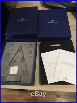 Swarovski 15 Silver Christmas Tree With Les Crystal Stars. 5064271. Boxed. Rare