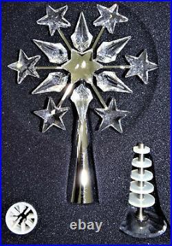 Swarovski Christmas Tree Topper Crystal Silver 9443 000 016 632784 MIB