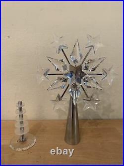 Swarovski Crystal Christmas Tree Topper Silver Base Retired, Made in Austria