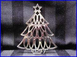 Tiffany & Co 1998 Sterling Silver Xmas Tree Ornament