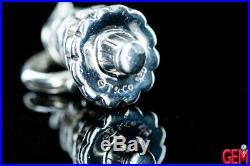 Tiffany & Co Enamel Christmas Tree Charm Pendant 925 Sterling Silver Enamel