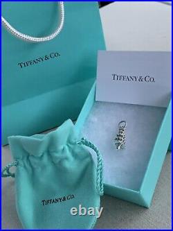 Tiffany & Co Silver 925 Red Green Blue Enamel Christmas Tree Charm Retired HTF
