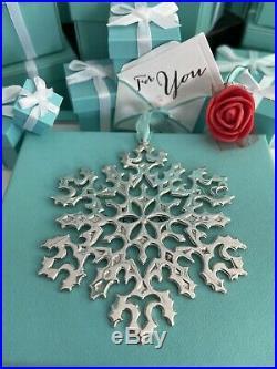Tiffany Co Snowflake Ornament Sterling Silver 3 Christmas Tree Holiday Box Vtg