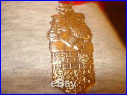 Tiffany sterling silver key shaped Christmas tree ornament Santa 28 grams NEW