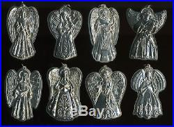 Towle Sterling Silver Christmas Tree Ornaments Angels 1991 1999 (Lot of 9)