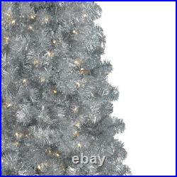 Treetopia Basics Silver 6 Foot Prelit Christmas Tree with Clear Lights (Used)