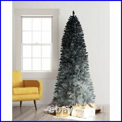 Treetopia Silver Shadow Ombre 6 Foot Prelit Christmas Tree with Lights (Open Box)