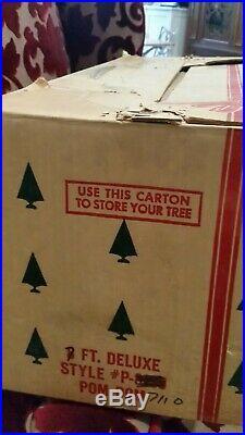 United States Silver Tree Co. Reynolds 7ft. Aluminum Christmas Tree Pom-pom