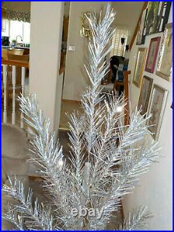 VINTAGE 6 1/2 FOOT CRAFT HOUSE ALUMINUM CHRISTMAS TREE WithSTAND & BOX