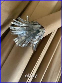 VINTAGE Aluminum Christmas Tree 4' Sparkler Pom Pom Star Band Co M 434 COMPLETE