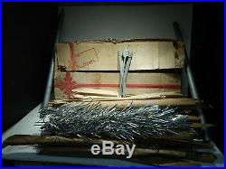 VINTAGE UNITED STATES SILVER 6 1/2 FT. ALUMINUM CHRISTMAS TREE COMPLETE With BOX