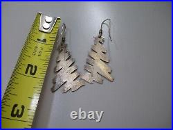 VTG James Avery Christmas Tree Earrings Retired abstract design Sterling Silver