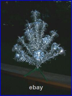 VTG RETRO HTF HTF NICE 2 FT CONSOLIDATED NOVELTY Silver Aluminum Xmas Tree