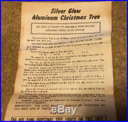 VTG US Silver Tree Co. Artificial 4-1/2 Ft Deluxe A-452 Tree (52 Branches)