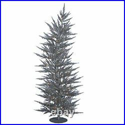 Vickerman 5' Silver Laser Artificial Christmas Tree with 100 Warm White LED L