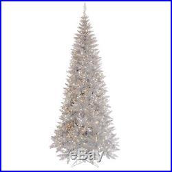 Vickerman Silver Tinsel Fir Christmas Tree K166756LED New