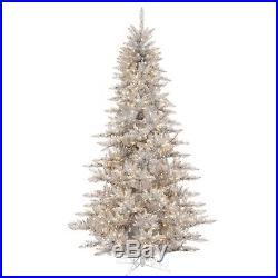 Vickerman Silver Tinsel Fir Christmas Tree K166846LED New