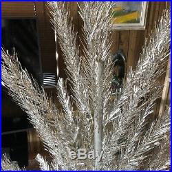 Vintage 1960's Aluminum Silver 6' Christmas Tree in Original Alcoa Box