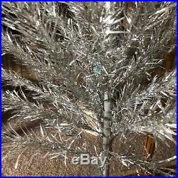 Vintage 1960's Aluminum Silver 6' Christmas Tree in Original Sapphire Regal Box