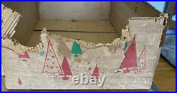 Vintage 1960s Evergleam 6 FT Silver Aluminum Christmas Tree with 94 Branches