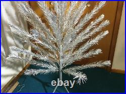 Vintage 1960s mcm ALUMINUM Christmas Tree 510 Tall Mid-Century Modern with Stand
