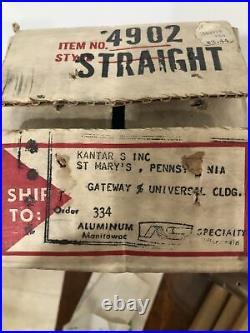 Vintage 2 FT. Aluminum SILVER EVERGLEAM Straight Christmas Tree with Box 1962