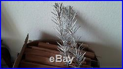 Vintage 4-1/2' Silver Forest Stainless aluminum christmas tree