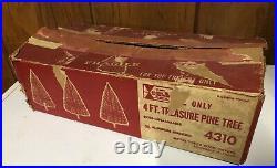 Vintage 4' Aluminum Christmas Tree & Original Box Alcoa Silver Chicago