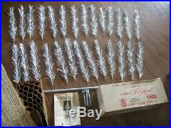 Vintage 4' Aluminum Christmas Tree with Box Fairyland by Craft House #5004 Silver