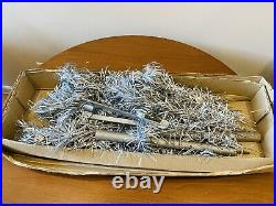 Vintage 4 foot Pom silver aluminum Christmas tree 54 Branches