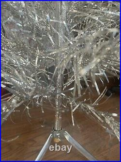 Vintage 4 ft Stainless Aluminum Christmas Tree 43 Branches Holidays