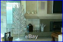 Vintage 50s 60s Style 7' Mid Century Modern Reproduction Aluminum Christmas Tree