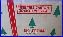 Vintage 6 1/2 foot Reynolds Aluminum U. S. Silver Tree Co Christmas Tree-COMPLETE