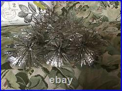 Vintage 6 Foot Silver Peco Aluminum Christmas Pine Tree 91 Branches Stand