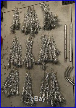Vintage 6 Ft. 87 Branch SILVER ALUMINUM CHRISTMAS TREE -Nice