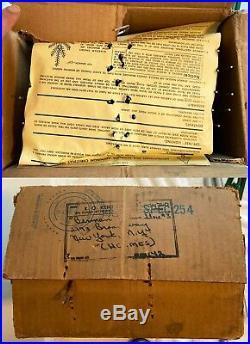 Vintage 6 Ft. POM POM 66-Branch SILVER ALUMINUM CHRISTMAS TREE with Box