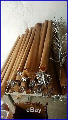 Vintage 6 Ft Silver Stainless Aluminum Specialty Tinsel Christmas Tree