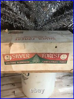 Vintage 6 Silver Forest Deluxe Aluminum Christmas Tree withoriginal box 1960s