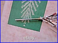 Vintage 6 ft Sparkler silver aluminum pom-pom Christmas tree