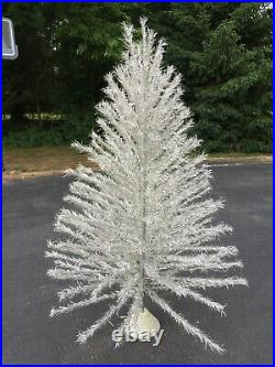 Vintage 7 Aluminum Tinsel Taper Tree Model 7201 with Instructions 200 Branches