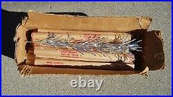 Vintage Aluminum 4 Silver SPARKLER Christmas Tree Retro Mid Century Modern