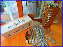 Vintage Aluminum Christmas Tree 4 Ft Pom Pom 31 Branch With Box Taper Tree Rare