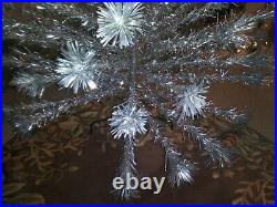 Vintage Aluminum Christmas Tree 6ft. With 87 branches